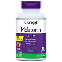 Natrol Melatonin Fast Dissolve Tablets, Helps You Fall Asleep Faster, Stay Asleep...