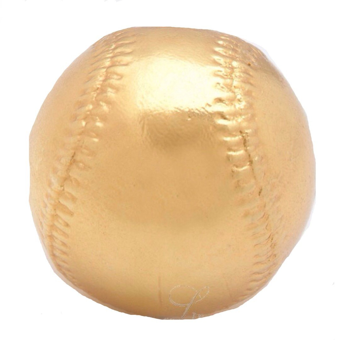 Roxx Fine Jewelry 24K YELLOW GOLD PLATED BASEBALL includes clear display case