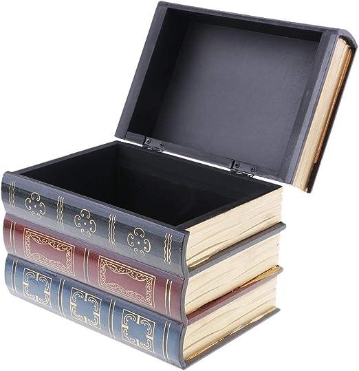 SGerste - Caja de joyería con forma de libro envejecido, organizador de mesa para el hogar, tamaño L: Amazon.es: Hogar