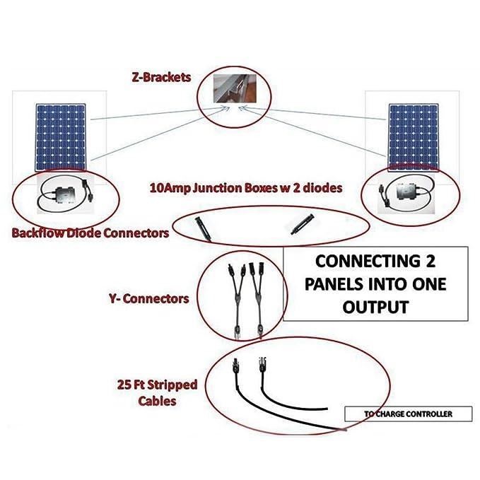 GEZICHTA Paar Y Ast MC4 Parallel Anschluss Adapter Kabel Draht ...