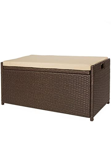 Merveilleux Victoria Young Resin Wicker Deck Box Storage Bench Container With Seat And  Cushion Indoor And Outdoor