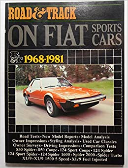 Road & track on Fiat sports cars, 1968-1981 (Brooklands books) Paperback