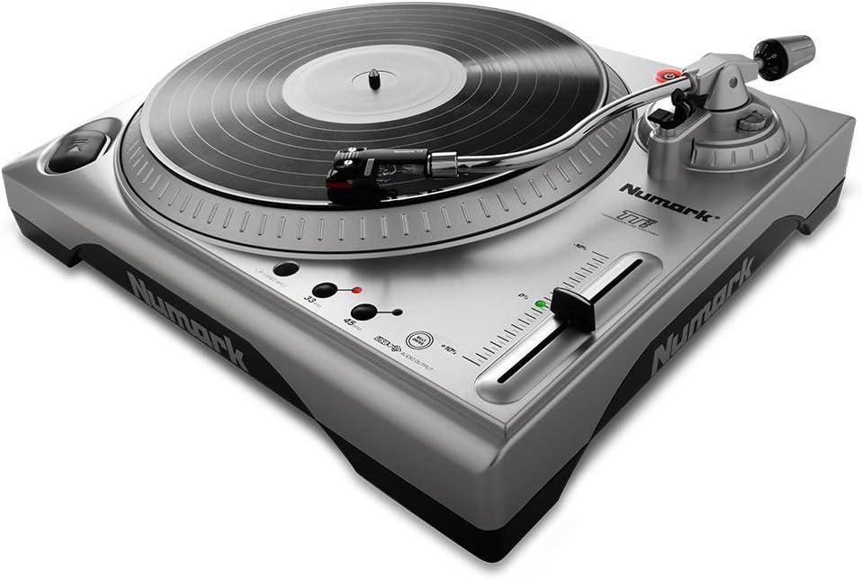 Numark TTUSB - Plato de DJ profesional con interfaz de audio, puerto USB, software de conversión y tono ajustable