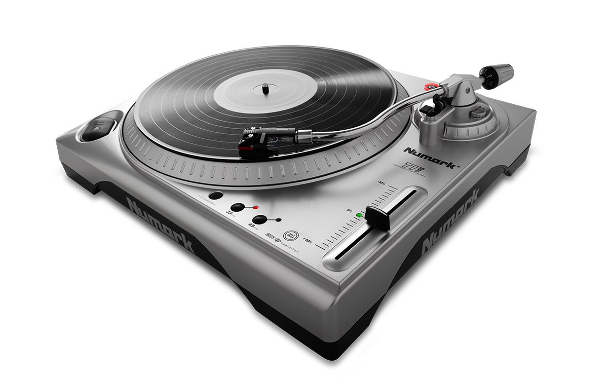 Numark TTUSB | 33 1/3 & 45 RPM Turntable with USB Audio Interface, 1/8'' Input, & RCA Output