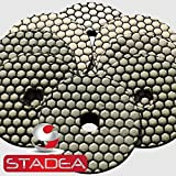 stone concrete diamond polishing pads - 4 Inch Dry Discs Set For Marble Granite by STADEA