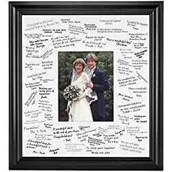 Wedding Signature Mat Set for 8x10 Photo (Black)