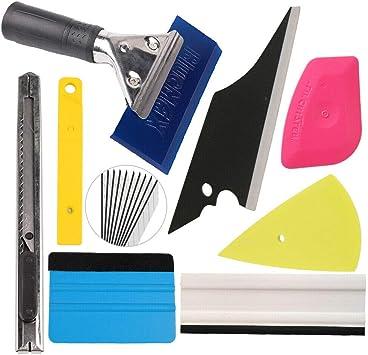10 Pcs Car Window Tint Wrapping Vinyl Tools Squeegee Scraper Applicator Kits USA