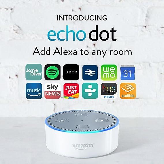 Certified Refurbished Amazon Echo Dot (2nd Generation), White-Best-Popular-Product