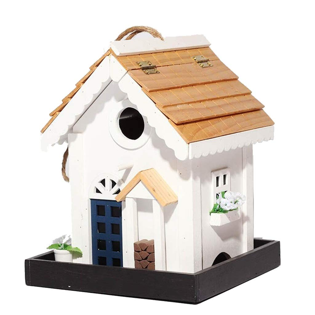 XingKunBMshop Wild Bird Seed Feeder - Solid Wood Bird Feeder/Bird Table/Bird House Bird Food Tray,Balcony by XingKunBMshop