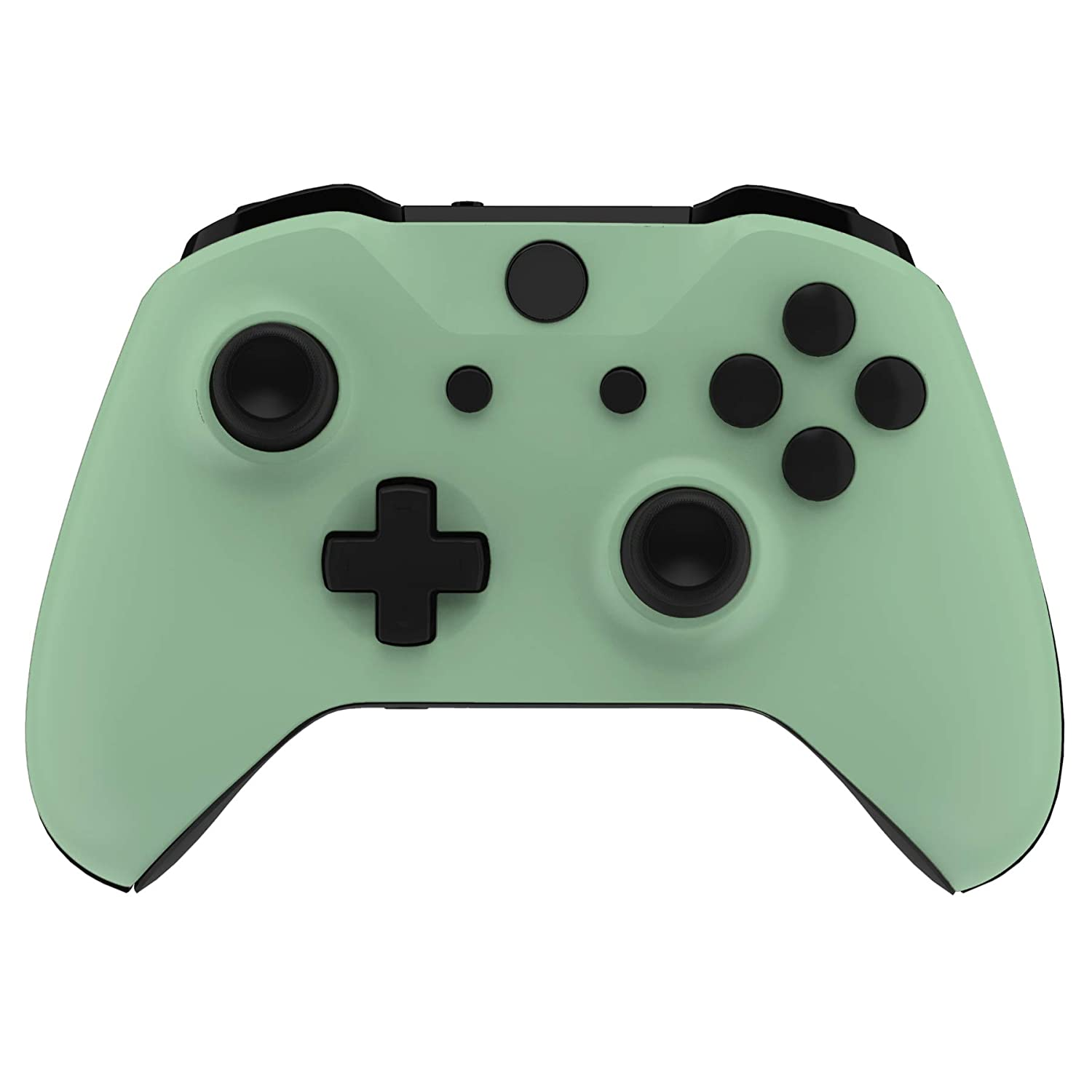 eXtremeRate Neon Green Soft Touch Grip Front Housing Shell Faceplate for Microsoft Xbox One X /& One S Controller