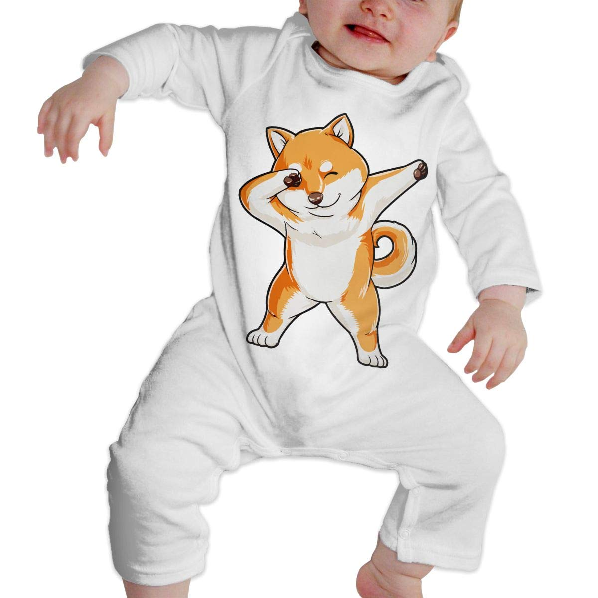 A1BY-5US Infant Babys Cotton Long Sleeve Dabbing Doge Shiba Inu Baby Clothes One-Piece Romper Clothes