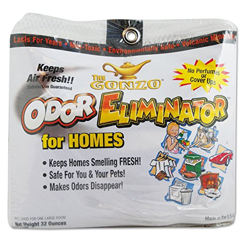 Wmn Gonzo Odor Eliminator, Volcanic Rocks, 32 oz Net Bag, 6/Carton (WMN1013D)