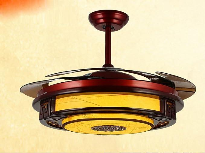 Retro al estilo chino, ventilador de techo, lámpara Lámpara ...