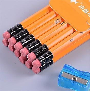 EoamIk Regalo de útiles Escolares Cinta venenosa sin Plomo con lápices sacapuntas para Estudiantes (Caja Amarilla): Amazon.es: Electrónica