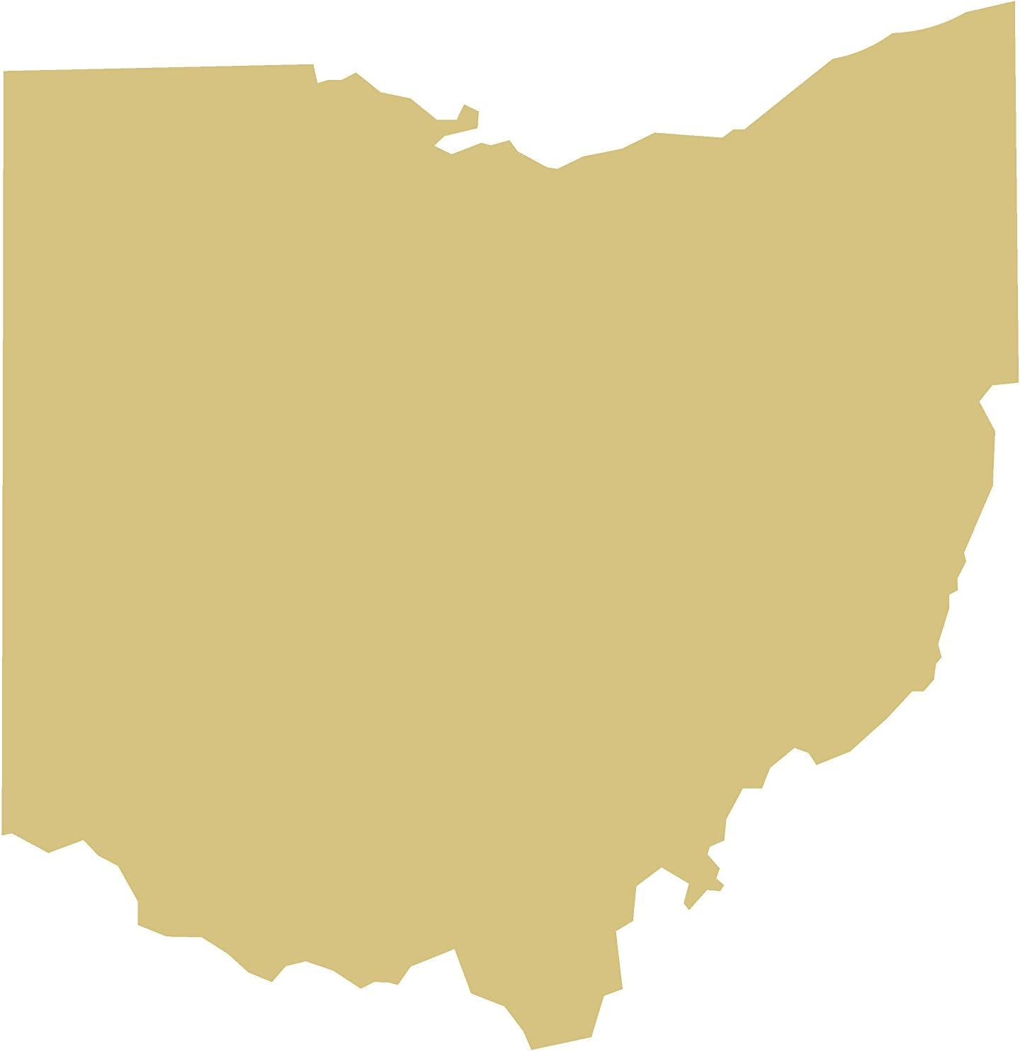 States Cutout Unfinished Wood United States Geography School Decor Door Hanger MDF Shape Canvas Style 1 (18