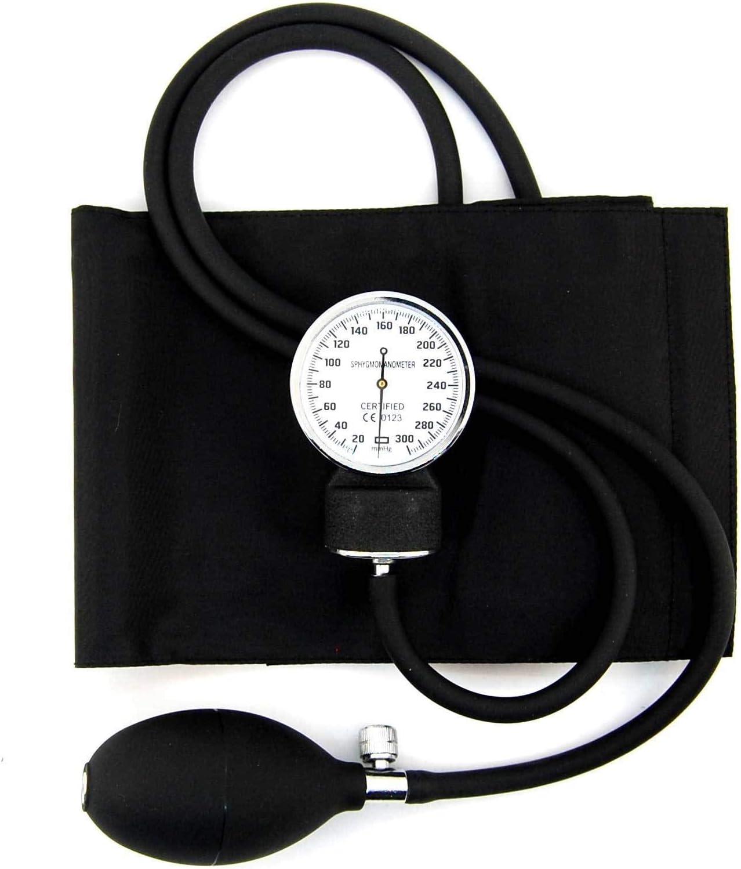 Profesional de medición de tensión aneroide con varios manguitos la estructura externa de diseño de manchas de sangre de la presión acústica en de protección y medidor de pantalla de - lámpara de tech