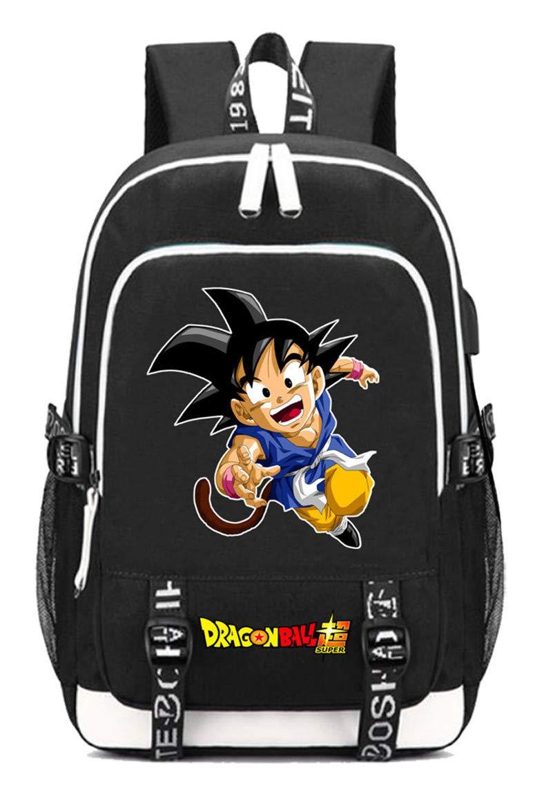 Dragon Ball  2 Cosstars Dragon Ball Anime Rucksack Schoolbag Laptop Backpack with USB Charging Port and Headphone Jack  9