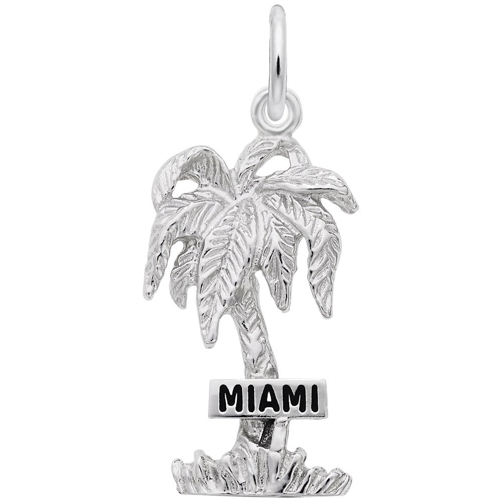 Charms for Bracelets and Necklaces Miami Palm Charm