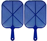 Buzzwacket Heavy Duty Fly Swatters (2 Pack) Kills Flies in The Air No More Squishing Mess. Short Handle Design Makes it The Best Home Fly and Insect Killer