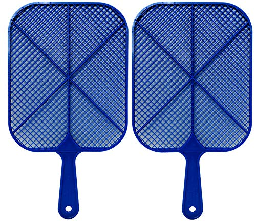 Buzzwacket Heavy Duty Fly Swatter (2 Pack) Kills Flies in The Air No More Squishing Mess. Best Home Fly and Insect Killer