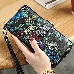 1a55f9102466 Amazon.com: Lannmart Fashion Women Wallet Long Zipper Wallet Ladies ...