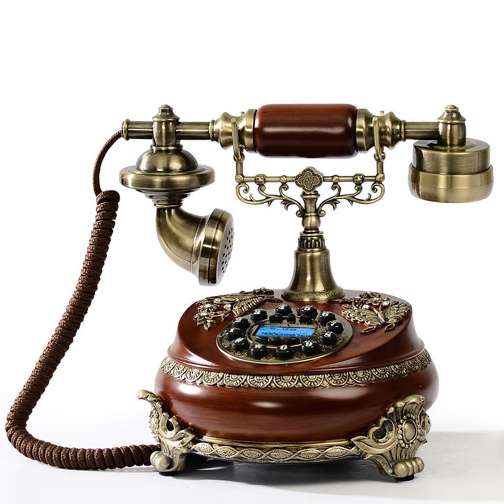 FADACAI Seat Machine Home Fixed Antique Retro Sitting Phone 23 18 25cm