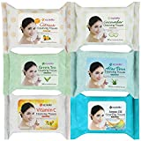 Kareway Epielle Assorted Makeup Remover Cleansing Towelettes, 30 Counts (Pack of 6)