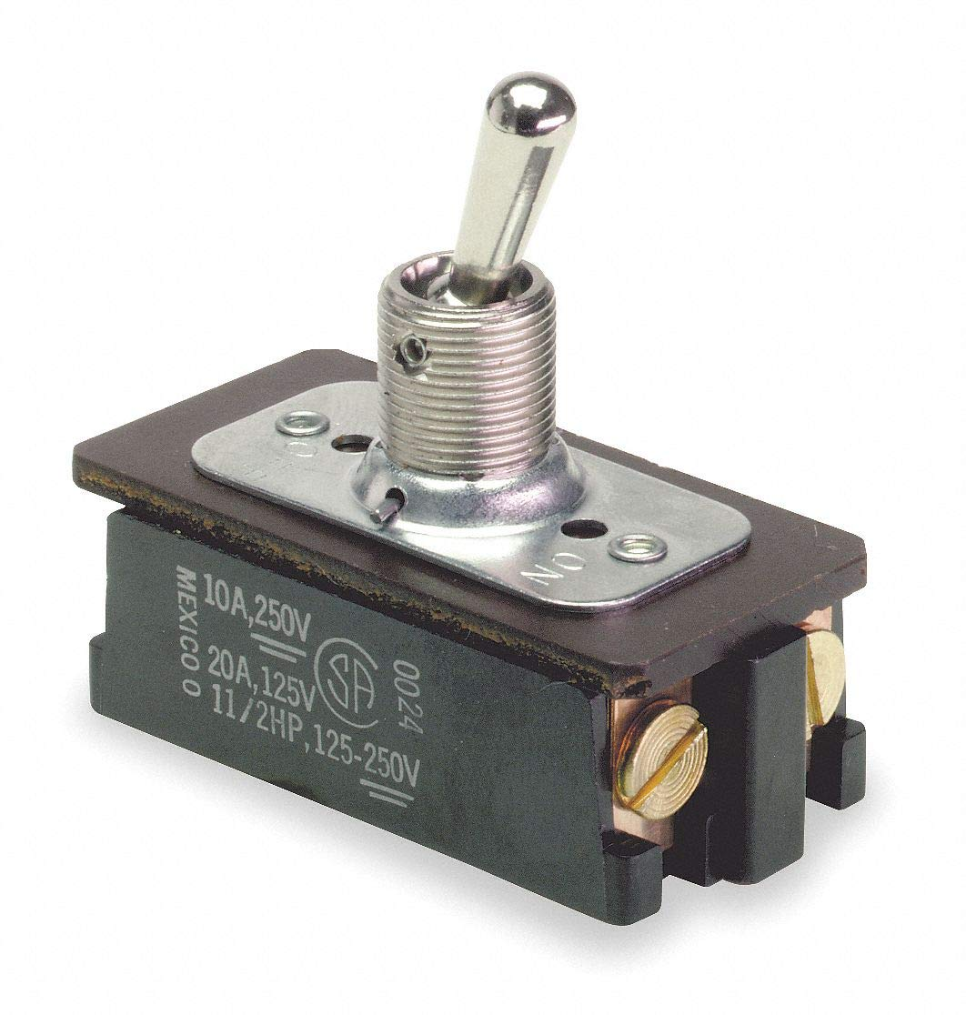 Carling Technologies Toggle Switch Number of Connections: 5 20A @ 12V AC Contact Rating Switch Function: On//Off//On
