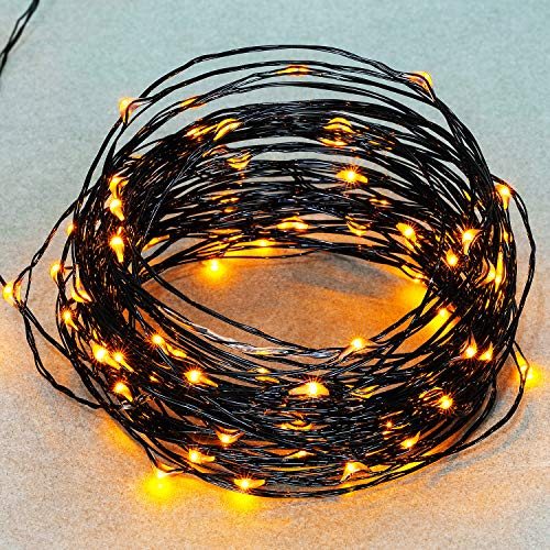Mudder 33ft Led String Lights, 100 Led Yellow Starry Lights on 10M Waterproof Copper Wire with USB and 8 Modes Remote Control Time for Thanksgiving Christmas Decor