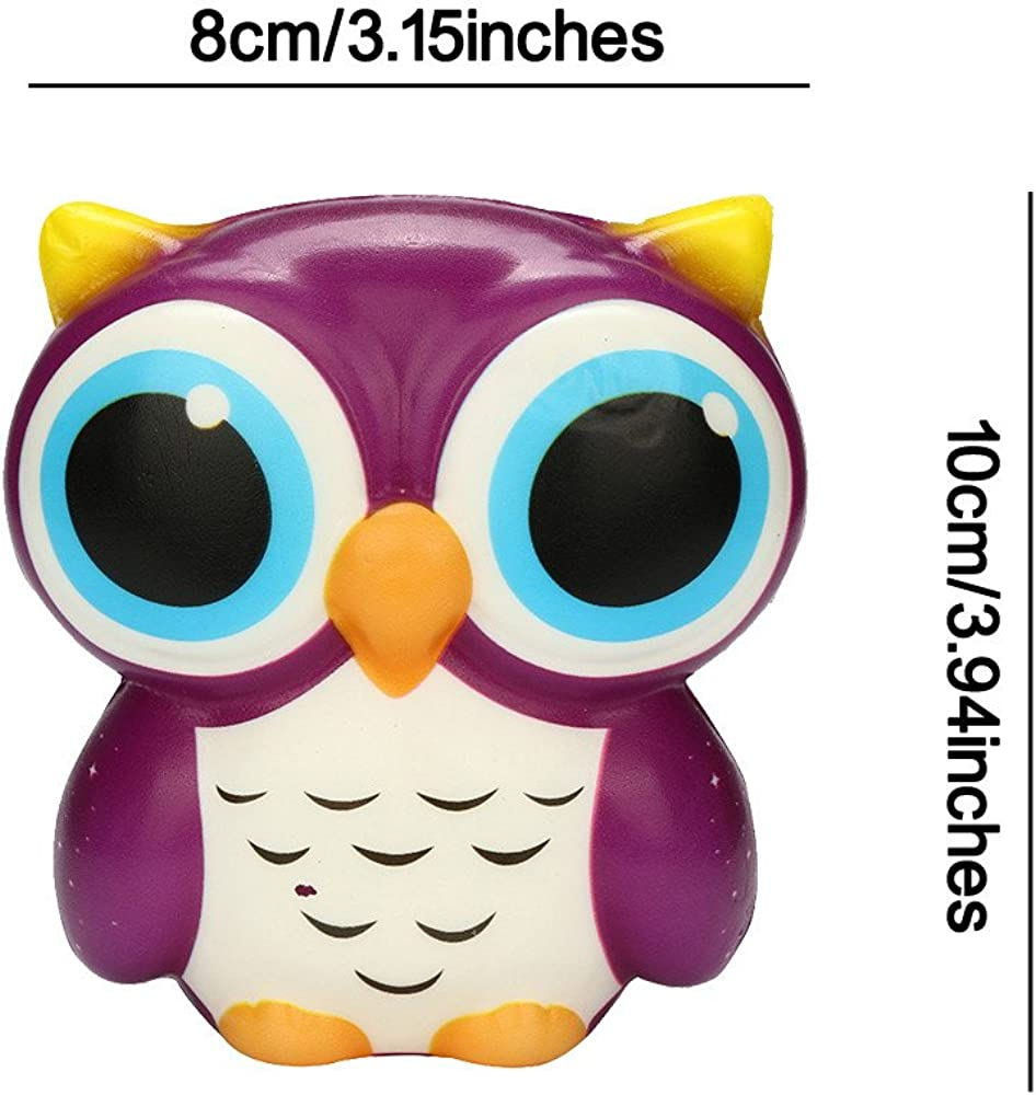 DIGOOD Adorable Owl Squishy Slow Rising Cartoon Doll Cream Scented Stress Relief Toy for Kids /& Adults