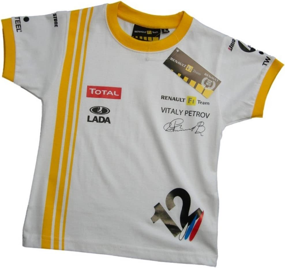 Renault ING Petrov Kids T para Hombre Blanc - Blanc 4 años: Amazon ...