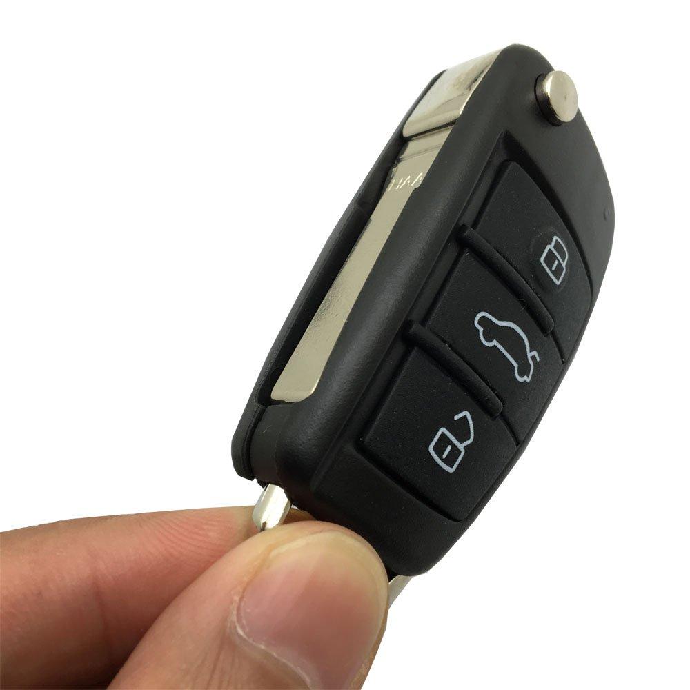 Amazon.com: Repuesto Smart Key Fob Funda para Audi A4 A4L Q5 ...