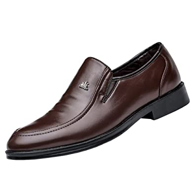 Mens Classic Leather Lined Derby Cap Toe Oxfords Dress Shoes