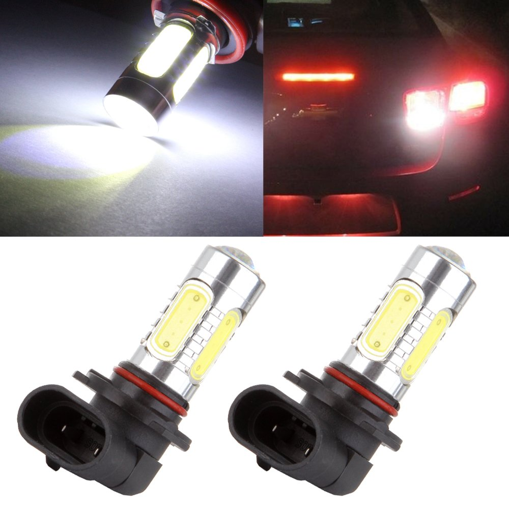 cciyu 2 Pack 9005 7.5W Super White 6000K COB Chip High Power LED Bulb Replacement fit for Fog Driving Light Daytime Running Lamps DRL Bulbs