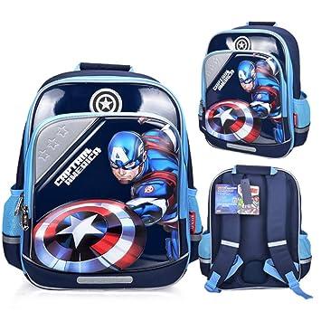 JIAN Mochila para Niños 3D Superhero Schoolbag,C-OneSize: Amazon.es: Hogar