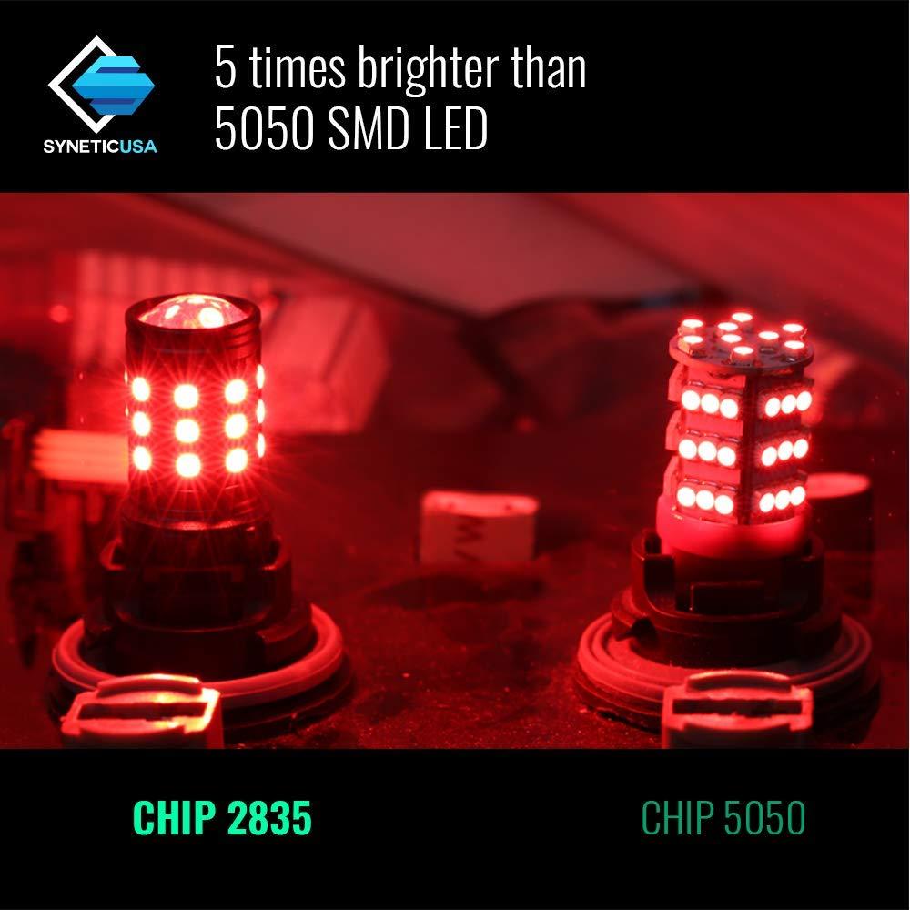 Red Flashing Strobe Blinking Rear Alert Safety Brake Tail Stop High Power LED Light Bulbs 1157
