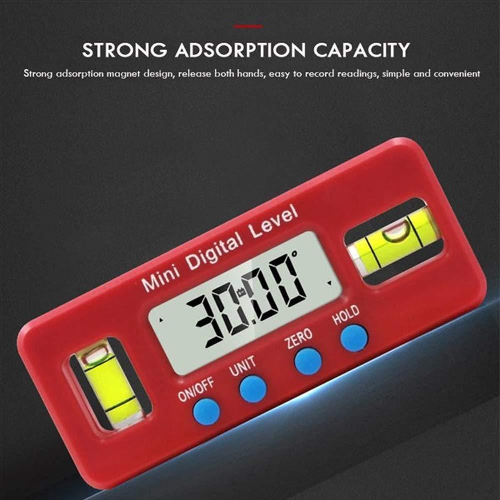 Level 4.2 1.6cm 10 Ajboy Mini Digital Level Meter Neigungsmesser Schr/ägkasten Wasserdicht 360 Grad Flip LCD Digital Winkel Gauge