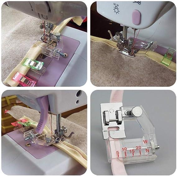 Fiona - Prensatelas para máquina de coser, con guía ajustable ...