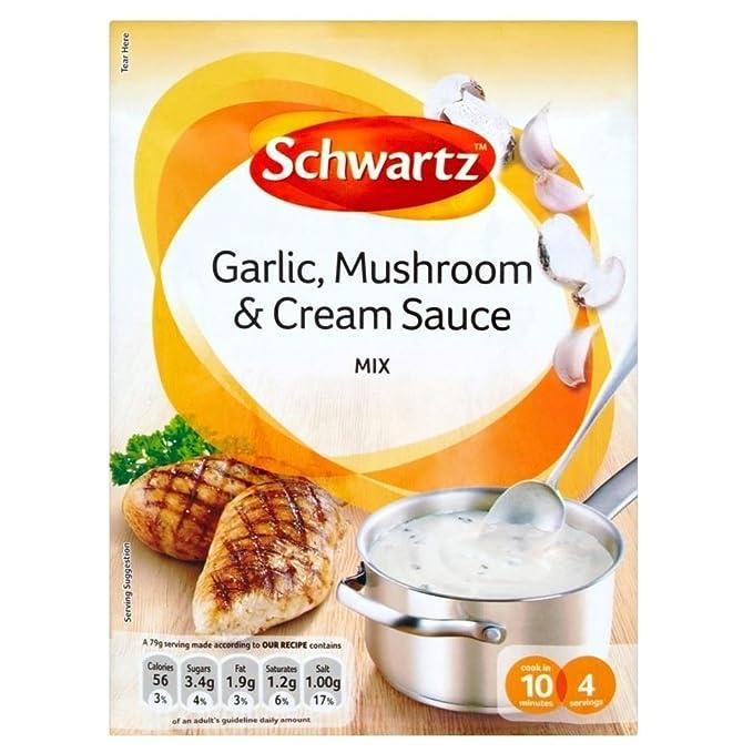 Schwartz Ajo, Champiñones Y Crema De Mezcla De Salsa (26g) (Paquete de