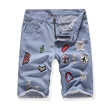 Darringls Pantalones Cortos Hombre, Hombres Denim Jeans Shorts ...