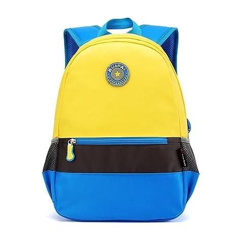 Wewod mochila escolar cute/mochilas escolares infantiles niño/mochilas casual (Amarillo-a