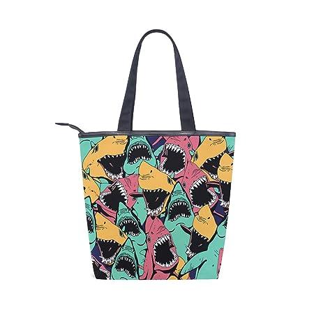 Angry Shark Sea - Bolso de Lona para Mujer, diseño de ...
