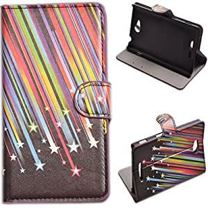 Einzige Slim Fit Leather Case Cover for Sony Xperia C S39h (Meteor) with Free Universal Screen-stylus