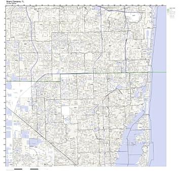 Amazoncom Miami Gardens FL ZIP Code Map Laminated Home Kitchen