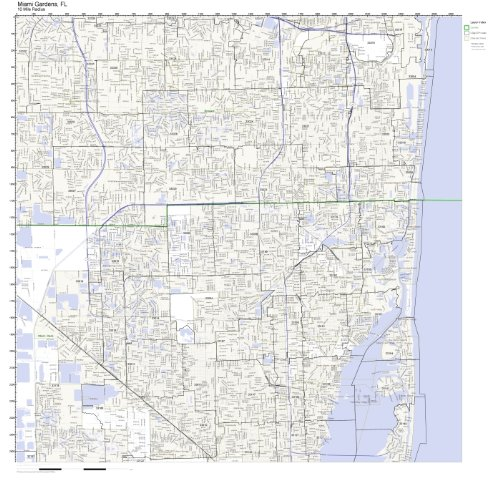 Miami Gardens, FL ZIP Code Map Laminated]()
