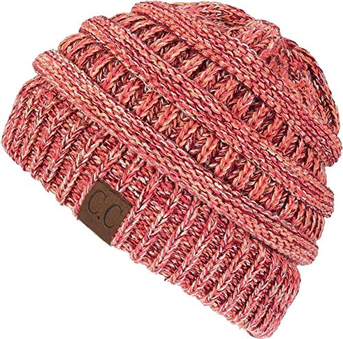 - H-6800-816.52 Funky Junque 4 Tone Beanie - Coral Combo #16