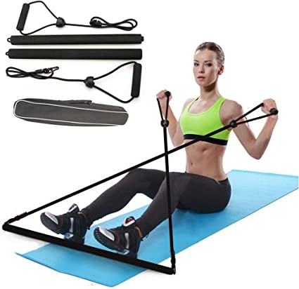 Pilates Bar Multi-function Bodybuilding Yoga Exercise Bar Resistant Band Barindoor fitness