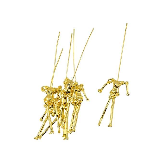 Baoblaze 6 Stück Menschlichen Skelett Körper Puppen form Anhänger ...