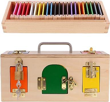Sharplace Juguetes Montessori de Madera - Caja de Cerradura Y Estuche de Color, Juego de Diversión para Niños: Amazon.es: Juguetes y juegos
