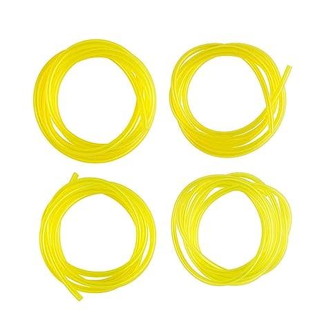 Meisijia - Juego de 4 piezas de poliuretano amarillo para ...